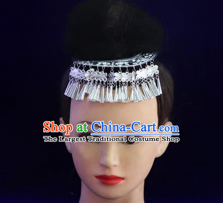 Chinese Miao Ethnic Argent Hair Stick Guizhou Minority Folk Dance Hair Accessories Miao Nationality Women Hairpins