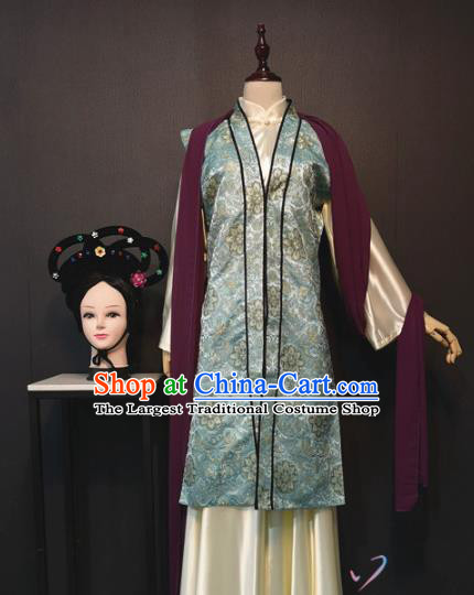 Ancient Noble Lady Drama The Dream of Red Mansions Lin Daiyu Outfits China Traditional Ming Dynasty Rich Female Costume and Headdress