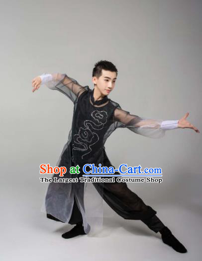 China Men Classical Dance Clothing Martial Arts Stage Performance Costumes for Men