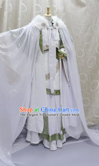 China Ancient Young Childe White Clothing Custom Professional Cosplay Swordsman Bie Xiaolou Costumes