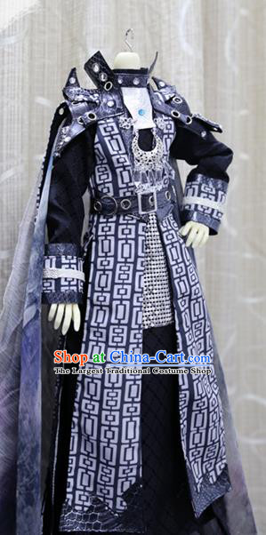 China Ancient Warrior Clothing Custom Professional Cosplay BJD Swordsman Sirius Costumes