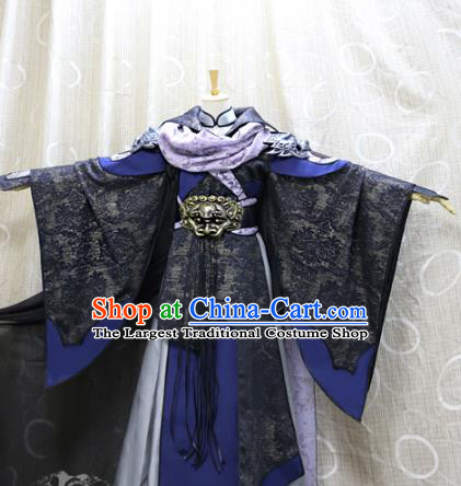 Traditional Cosplay Knight Ye Xiaochai Costumes Custom China Ancient Chivalrous Men Black Clothing
