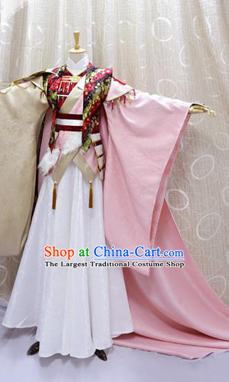 Traditional Cosplay Chivalrous Knight Swordsman Ying Chuixue Costumes Custom China Ancient Prince Clothing