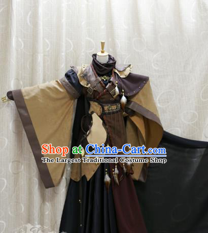 China Ancient Swordsman Clothing Custom Professional Cosplay Noble Childe Costume