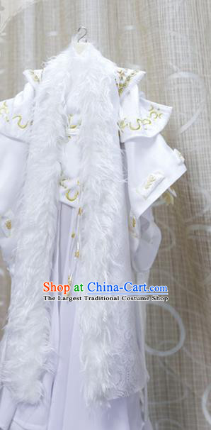 BJD Chivalrous Man Costumes Custom China Ancient Cosplay Royal Highness White Clothing