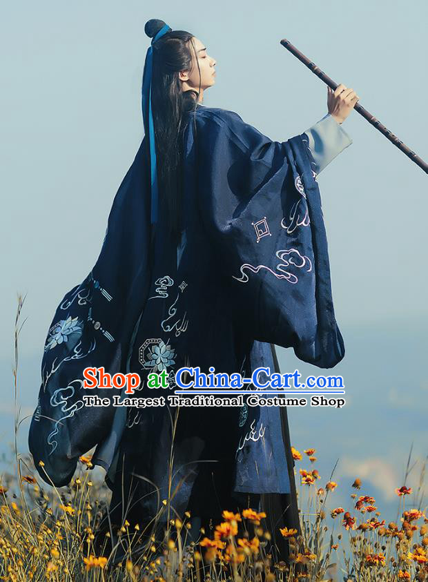 China Ancient Swordsman Apparels Traditional Jin Dynasty Chinde Hanfu Clothing for Men