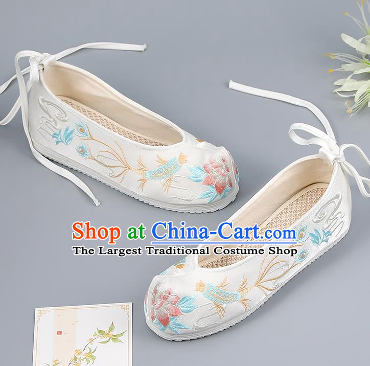 Traditional China Handmade Hanfu Shoes Princess Shoes National Shoes Embroidered Shoes Ming Dynasty Shoes