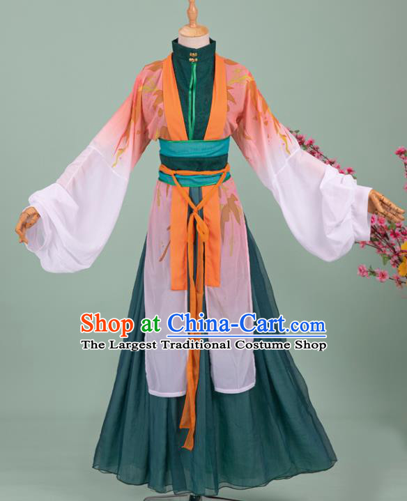 Chinese Cosplay Poetess Costumes Ancient Song Dynasty Young Mistress Li Qingzhao Hanfu Dress Apparels Full Set