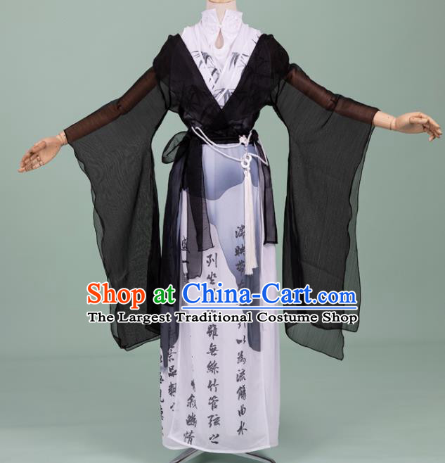 Chinese Cosplay Swordswoman Costumes Ancient Ming Dynasty Female Knight Hanfu Apparels