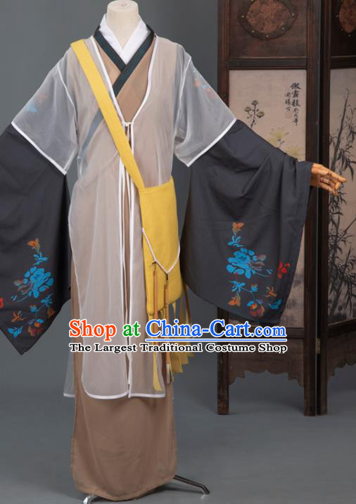 Cosplay Chinese Yuan Dynasty Scholar Costumes Ancient Litterateur Tang Xianzu Clothing