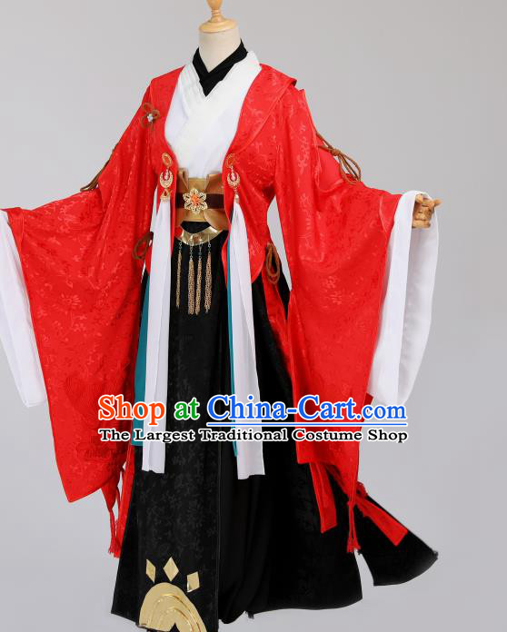 Cosplay Chinese Ming Dynasty Royal Prince Costumes Ancient Emperor Wedding Red Clothing
