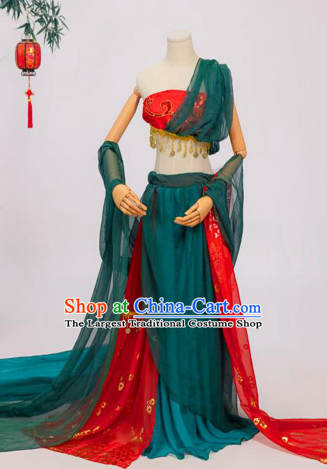 Chinese Tang Dynasty Palace Lady Costumes Ancient Flying Apsaras Hanfu Dress Classical Dance Apparels