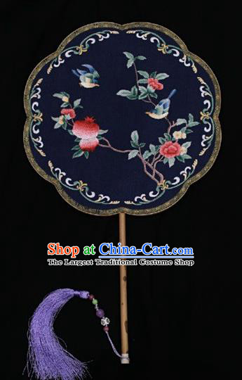China Classical Dance Silk Fan Traditional Court Lady Fan Suzhou Embroidery Double Side Fan Palace Fans