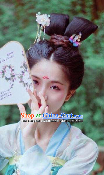 Chinese Tang Dynasty Court Maid Chignon Wigs Quality Wigs China Best Wig Ancient Palace Lady Hairpiece