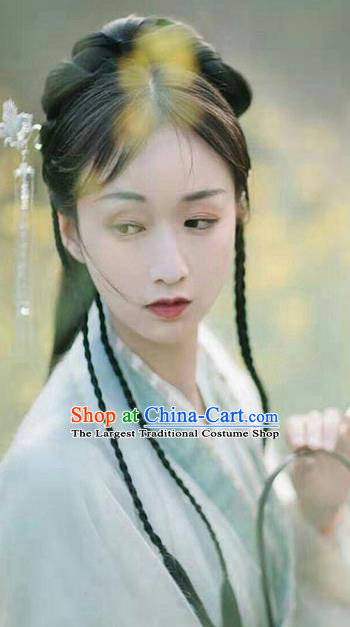 Chinese Ming Dynasty Court Maid Braid Wigs Quality Wigs China Best Wig Ancient Palace Lady Hairpiece