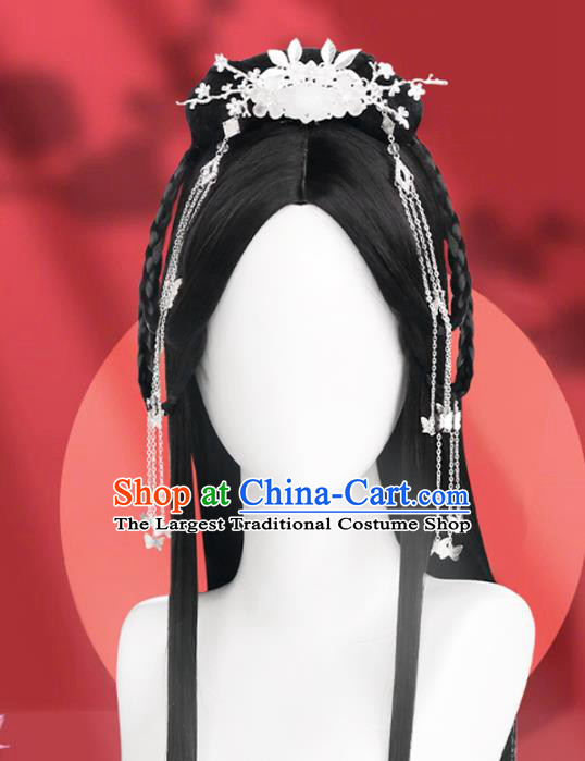 Chinese Han Dynasty Imperial Consort Wigs Quality Wigs China Best Chignon Wig Ancient Court Woman Wig Sheath