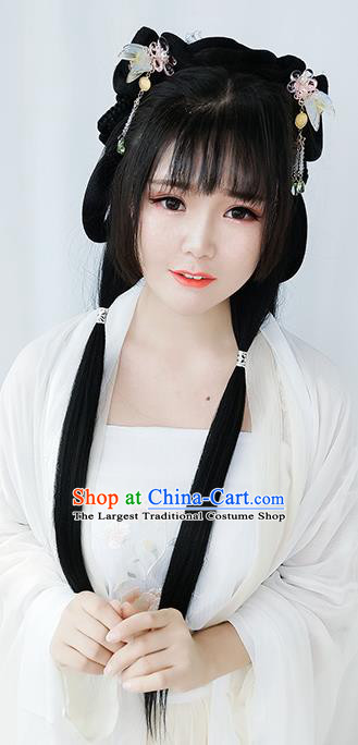 Chinese Cosplay Tang Dynasty Princess Wigs Best Quality Wigs China Wig Chignon Ancient Palace Lady Wig Sheath