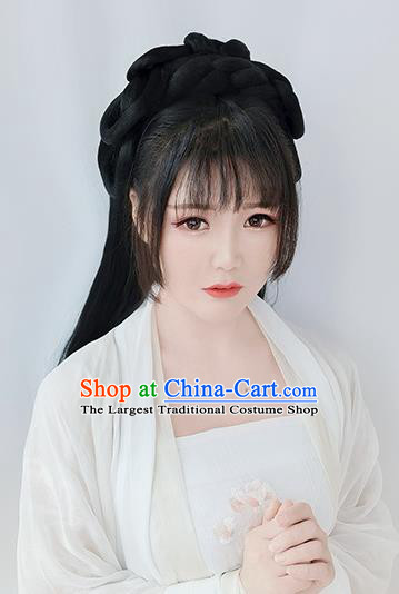 Chinese Tang Dynasty Princess Wigs Best Quality Wigs China Cosplay Wig Chignon Ancient Palace Lady Wig Sheath
