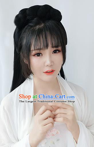 Chinese Song Dynasty Court Girl Wigs Best Quality Wigs China Cosplay Wig Chignon Ancient Palace Lady Wig Sheath