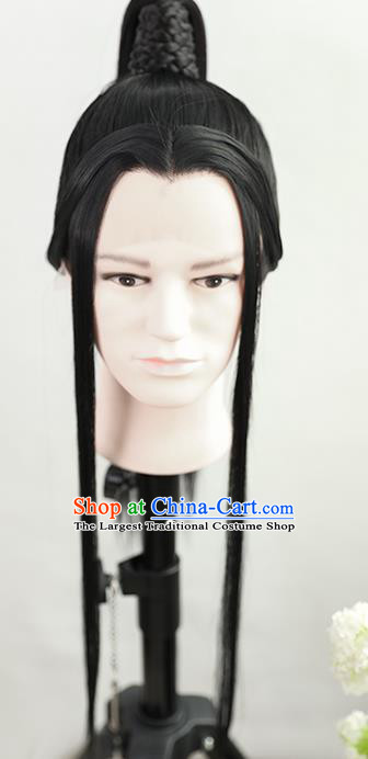 Best Chinese Drama Ancient Crown Prince Xie Lian Wig Sheath China Quality Front Lace Wigs Cosplay Childe Wig
