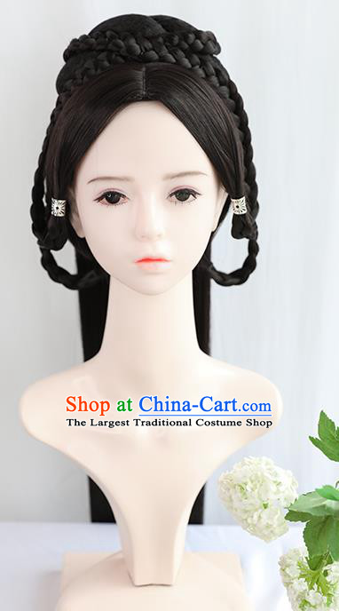 Chinese Cosplay Princess Wigs Best Quality Wigs China Wig Chignon Ancient Ming Dynasty Noble Lady Wig Sheath