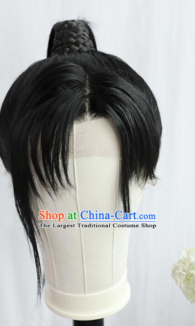Best Chinese Cosplay Young Hero Wig Sheath China Quality Front Lace Wigs Ancient Swordsman Wig