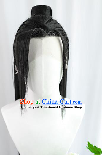 Best Chinese Drama Cosplay Swordsman Wig Sheath China Quality Front Lace Wigs Ancient Ming Dynasty Knight Wig