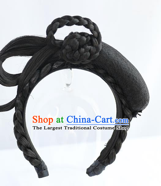 Chinese Tang Dynasty Princess Wig Hairpiece Quality Wig Sheath China Ancient Cosplay Goddess Wigs Chignon Hair Clasp