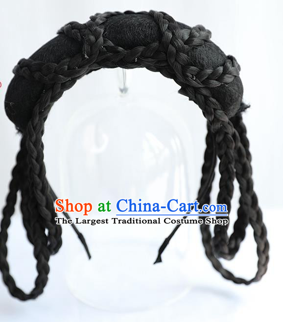 Chinese Jin Dynasty Noble Lady Wig Hairpiece Quality Wig Sheath China Ancient Cosplay Princess Wigs Chignon Hair Clasp