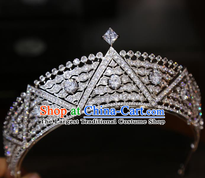 Europe Princess Hair Jewelry Bride Hair Accessories Wedding Zircon Royal Crown