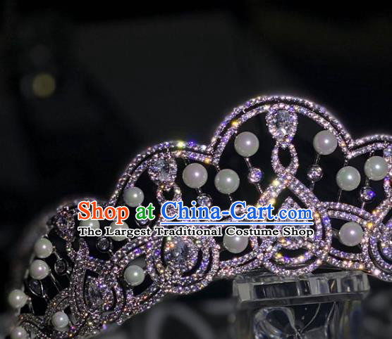Europe Princess Hair Jewelry Bride Hair Accessories Wedding Top Zircon Royal Crown