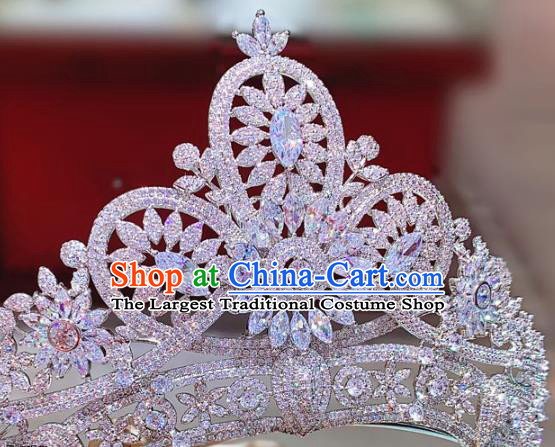 Top Zircon Royal Crown Europe Princess Hair Jewelry Wedding Bride Hair Accessories