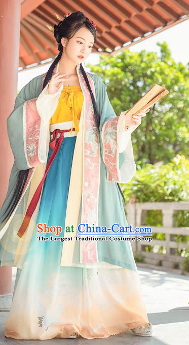 China Ancient Princess Hanfu Dress Traditional Song Dynasty Patrician Lady Embroidered Clothing