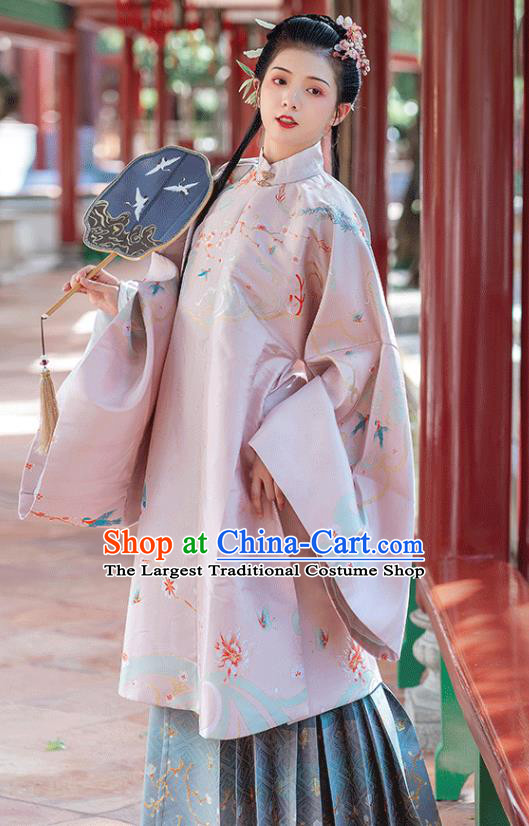 China Traditional Ming Dynasty Royal Princess Costumes Ancient Palace Lady Hanfu Clothing