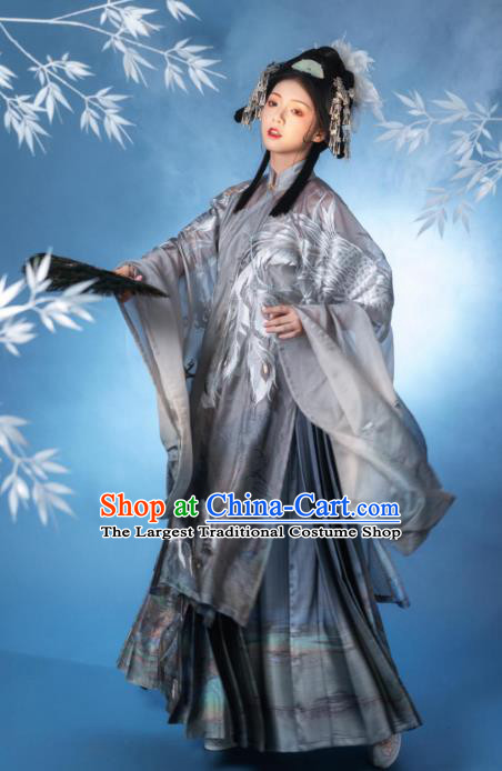 China Traditional Hanfu Clothing Ancient Ming Dynasty Imperial Consort  Embroidered Costumes Complete Set