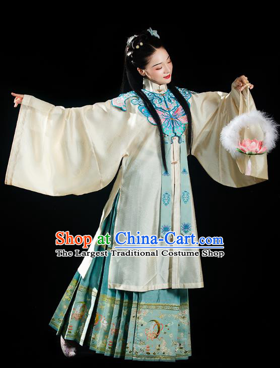 China Traditional Ming Dynasty Palace Princess Historical Clothing Ancient Noble Female Hanfu Dress