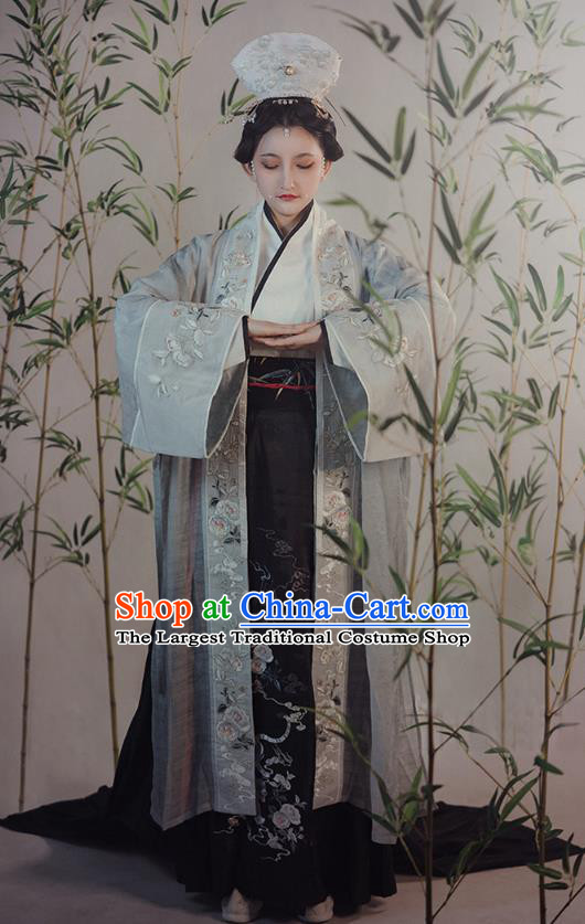 China Traditional Song Dynasty Imperial Consort Hanfu Dress Ancient Court Woman Historical Clothing Complete Set