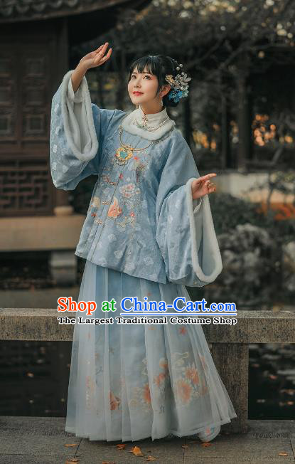 Traditional China Ming Dynasty Historical Clothing Ancient Palace Princess Hanfu Dress Complete Set