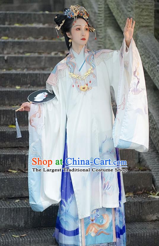 China Ancient Noble Countess Hanfu Dress Traditional Ming Dynasty Imperial Mistress Historical Clothing Full Set
