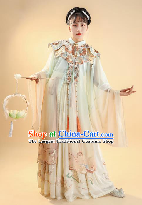 China Ancient Royal Princess Historical Clothing Ming Dynasty Embroidered Costumes Traditional Hanfu Dress