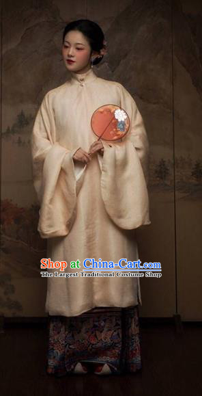 China Ancient Noble Mistress Hanfu Dress Costume Traditional Ming Dynasty Royal Countess Historical Clothing