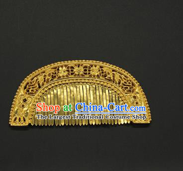 China Ancient Court Hair Comb Traditional Yuan Dynasty Hair Accessories Handmade Palace Hairpin