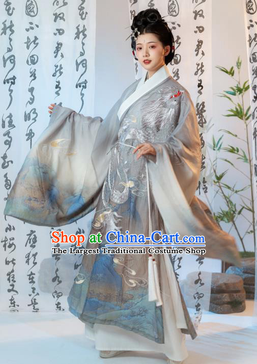 China Ancient Imperial Mistress Embroidered Clothing Ming Dynasty Noble Countess Costumes Traditional Hanfu Dress