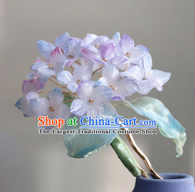 Chinese Traditional Hanfu Flowers Hairpin Hair Accessories Ancient Princess Hydrangea Hair Stick