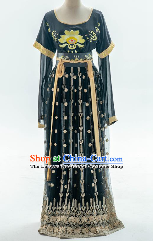 China Traditional Tang Dynasty Palace Lady Historical Clothing Ancient Princess Hanfu Dress Costumes