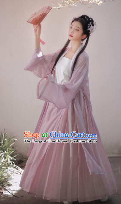 China Ancient Country Girl Historical Clothing Traditional Song Dynasty Young Lady Hanfu Costume