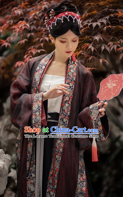 Ancient China Imperial Concubine Historical Clothing Traditional Song Dynasty Court Woman Hanfu Costumes