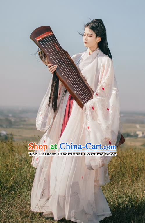 China Ancient Royal Princess Hanfu Clothing Traditional Song Dynasty Court Beauty Embroidered Historical Costumes