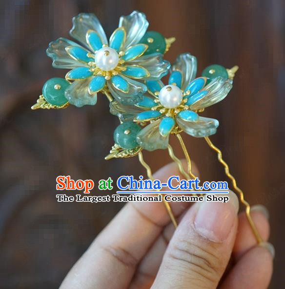 China Traditional Bride Little Hairpins Wedding Flowers Hair Sticks Xiuhe Suit Hair Accessories