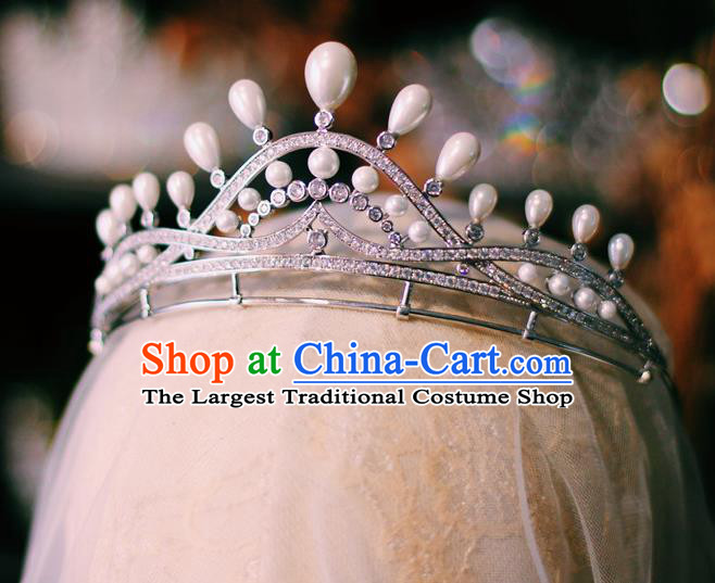 European Wedding Bride Hair Accessories Court Hair Jewelry Baroque Princess Zircon Royal Crown